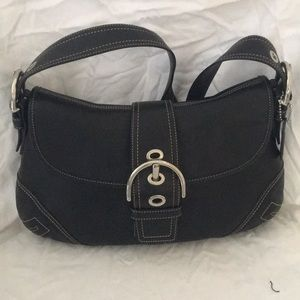 COACH LEATHER BLACK SHOULDER BAG